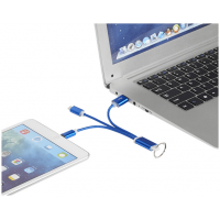Metal 3 in 1 Charging Cable With Keyring
