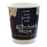 8oz Double Walled Branded Paper Cups