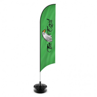 Feather Flag Curve Shape Height 2.3 Meters