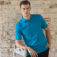 Henbury Classic Cotton Pique Polo Shirt with Stand-Up Collar