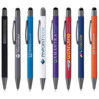 Bowie Soft Touch Ballpoint Pen With Stylus Top