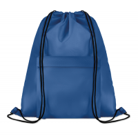 Large Pocket Shoop Drawstring Bag With Zippered Front Pocket