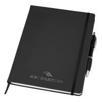 Large Noir Notebook & Curvy Pen Set