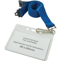 Credit Card Sized Lanyard Wallet - 90mm x 60mm