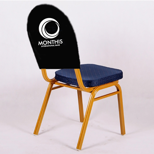 printed branded spandex chair cover hoods printed corporate chair