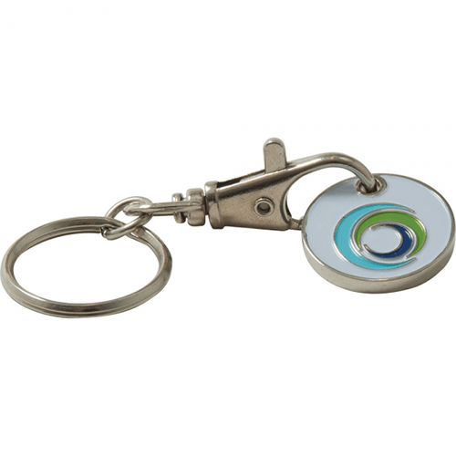 Branded New £1 Trolley Coin Keyring (Stamped Iron Soft Enamel Infill)