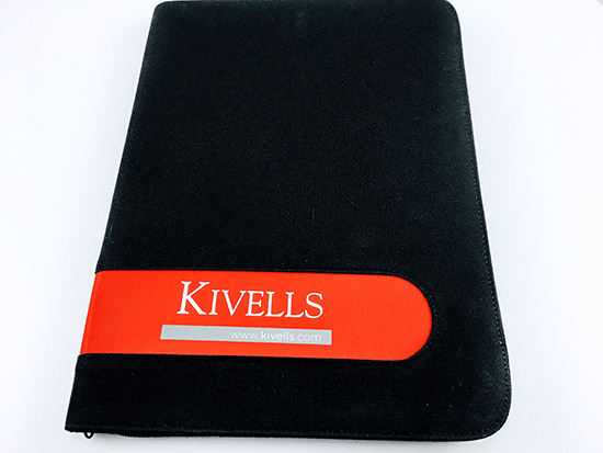 Promotional A4 Microfibre Folders, Supplied by Fylde Promotional Merchandise.
