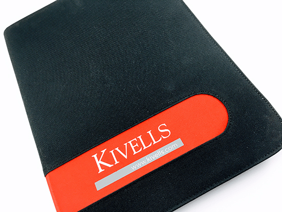 Branded A4 Microfibre Folders, Printed and Delivered for Kivells Estate Agents.