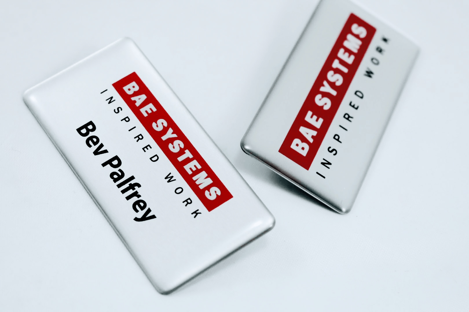 We'll Ensure the Information we Place on Your Promotional Digitally Printed Metal Name Badges is the Perfect Match for Your Brand.