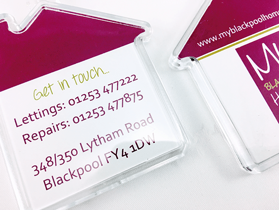 We'll Ensure the Information we Place on Your Promotional House Shaped Keyrings is the Perfect Match for Your Brand.