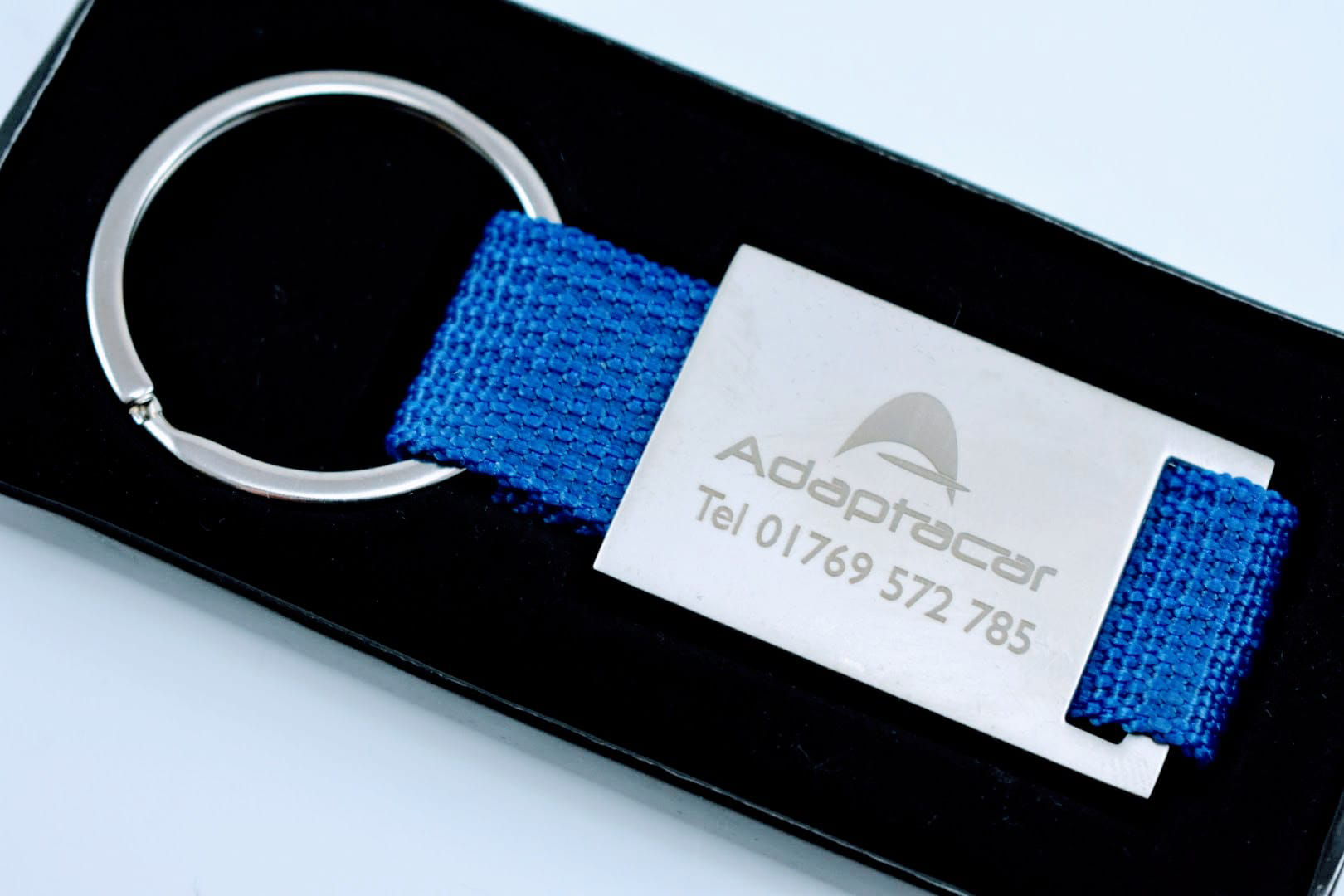 We'll Ensure the Information we Place on Your Promotional Metal And Canvas Keyrings is the Perfect Match for Your Brand.