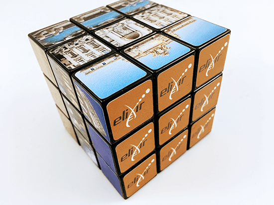 Promotional Carabiner Rubik's Cubes, Supplied by Fylde Promotional Merchandise.