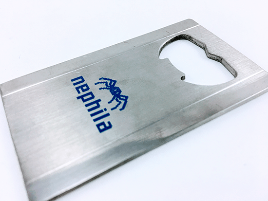 Branded Slim Bottle Opener, Printed and Delivered for Nephila Ltd.