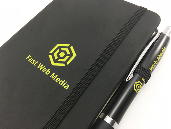 We'll Ensure the Information we Place on Your Promotional Noir Notebooks is the Perfect Match for Your Brand.