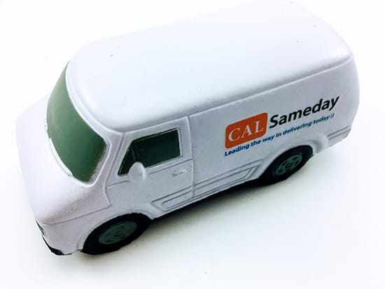 Promotional Stress Transit Vans, Supplied by Fylde Promotional Merchandise.