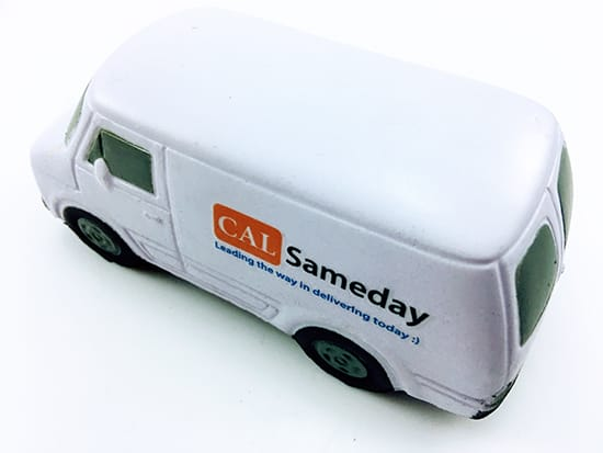 Branded Stress Transit Vans Printed and Delivered for CAL Sameday.