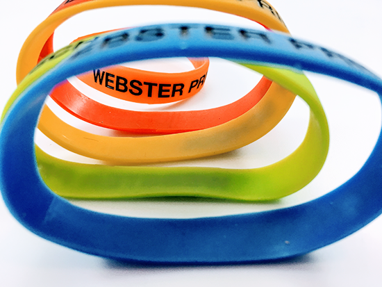 Branded Silicon Wristband, Printed and Delivered for Webster Primary School.