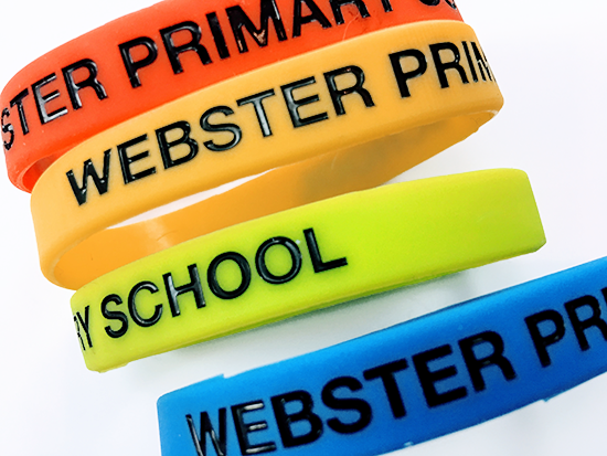 Promotional Silicon Wristbands, Supplied by Fylde Promotional Merchandise.